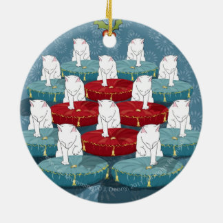 Twelve Cats Drumming... Ornament (double sided)