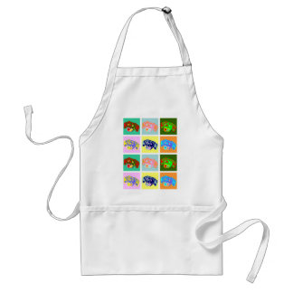 Twelve Colorful Dachshunds Adult Apron