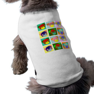 Twelve Colorful Pug Dogs Doggie T Shirt