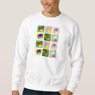 Twelve Colorful Pug Dogs Pullover Sweatshirt