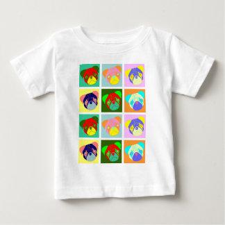 Twelve Colorful Pug Dogs T-shirts