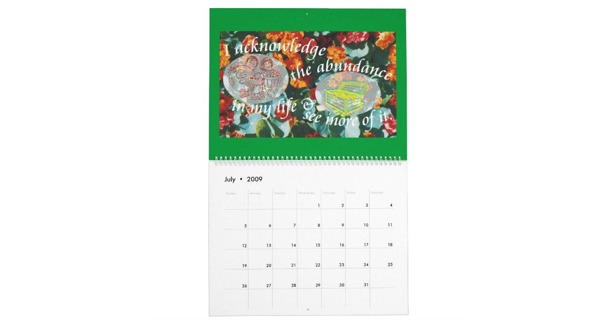 Weekly Reminder Calendar : Twelve daily reminders calendar zazzle