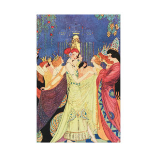 Twelve Dancing Princesses Vintage Fairy Tale Canvas Print