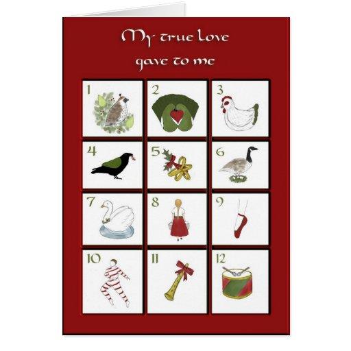 Twelve Days of Christmas Card