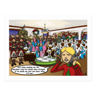 Twelve days of Christmas Card Postcards