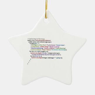 Twelve Days of Christmas in Java Ceramic Ornament