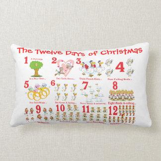 Twelve Days of Christmas Lumbar Pillow