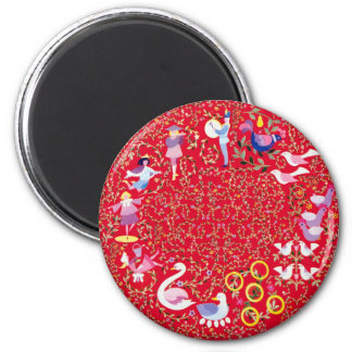 Twelve Days of Christmas 2 Inch Round Magnet