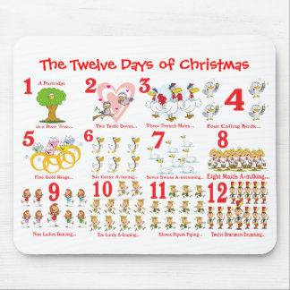 Twelve Days of Christmas Mouse Pad