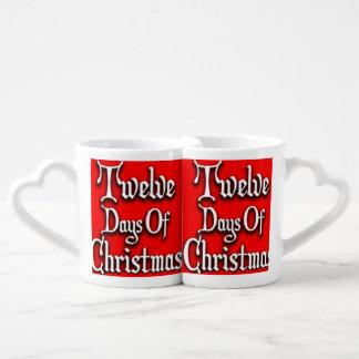 Twelve Days of Christmas Couples' Coffee Mug Set