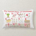 Twelve Days of Christmas Pillow