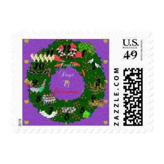 Twelve Days of Christmas Postage