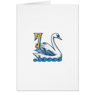 Twelve Days of Christmas - Seven Swans a-Swimming Greeting Card