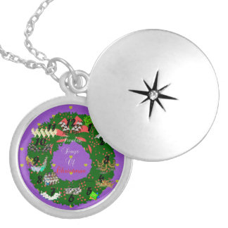 Twelve Days of Christmas Silver Plated Necklace