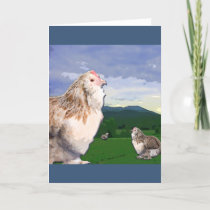 Twelve Days of Christmas - Three French Hens Holiday Card