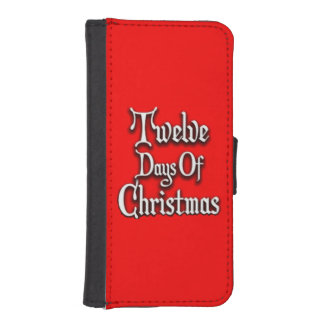 Twelve Days of Christmas Wallet Phone Case For iPhone SE/5/5s
