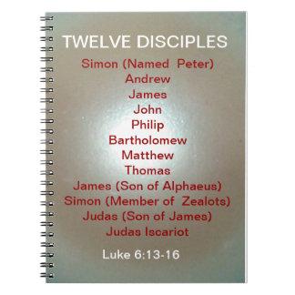 TWELVE DISCIPLES Luke 6:13-16 BIBLE STUDY NOTEBOOK