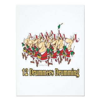 twelve drummers drumming 12th twelfth day card