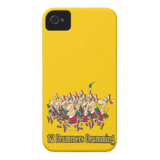 twelve drummers drumming 12th twelfth day iPhone 4 cover