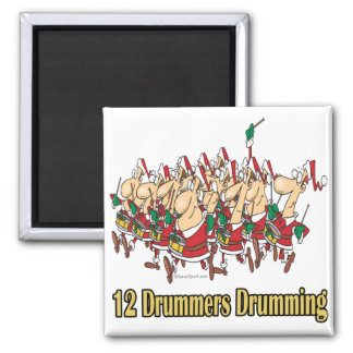 twelve drummers drumming 12th twelfth day magnet