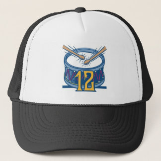 Twelve Drummers Drumming Trucker Hat