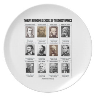 Twelve Founding Schools Of Thermodynamics Melamine Plate