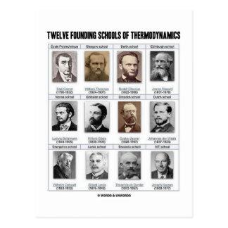 Twelve Founding Schools Of Thermodynamics Postcard