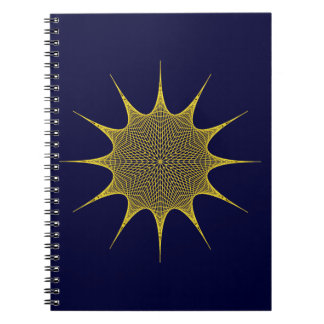 Twelve-hit a corner star dodecagon star spiral notebook