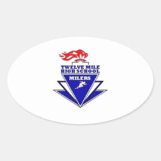 Twelve Mile, IN. High School Oval Sticker