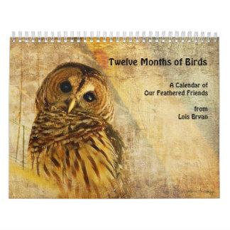 Twelve Months of Birds Calendar by Lois Bryan