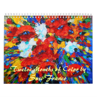 'Twelve Months of Color Calendar' by Susi Franco Calendar