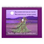 Twelve Months Of  Goddesses Calendar