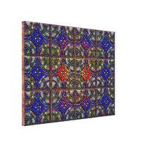 twelve part pattern tile design canvas print
