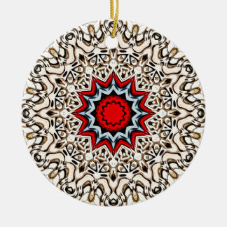 Twelve Points Mandala Ceramic Ornament