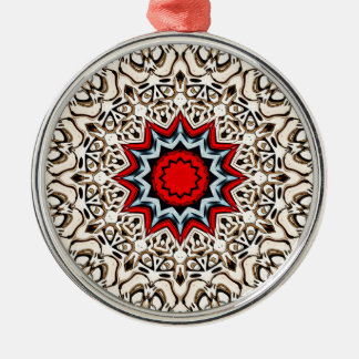 Twelve Points Mandala Metal Ornament