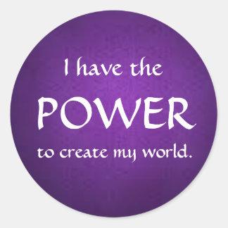 Twelve Powers - POWER Classic Round Sticker