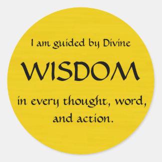Twelve Powers - WISDOM Classic Round Sticker