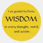 Twelve Powers - WISDOM Round Sticker