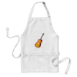 Twelve String Guitar Flowery Design Adult Apron