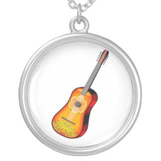 Twelve String Guitar Flowery Design Custom Jewelry