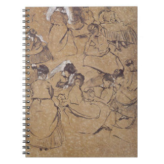 Twelve studies of women in costume of the Second E Notebook