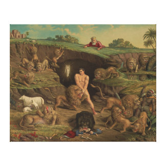 Twelve Temptations Daniel in the Lions' Den (1877) Canvas Print