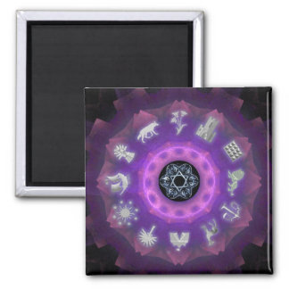 Twelve Tribes 2 Inch Square Magnet