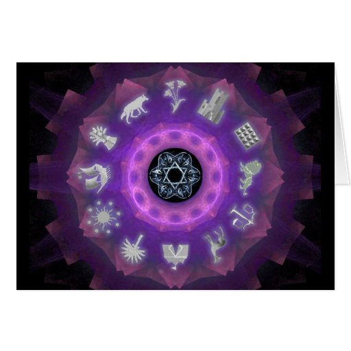 Twelve Tribes Greeting Card