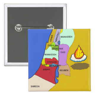 Twelve Tribes of Israel Map Pin