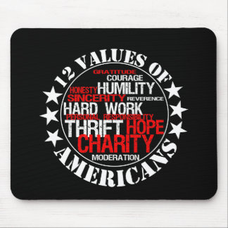 Twelve Values of Americans Mouse Pads