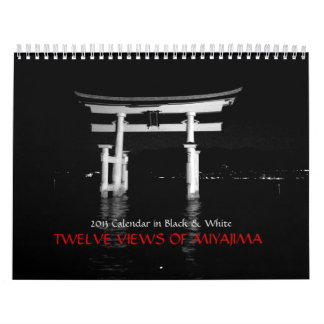 TWELVE VIEWS OF MIYAJIMA WALL CALENDAR
