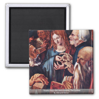 Twelve-Year Old Jesus Among The Scribes 2 Inch Square Magnet