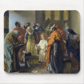 Twelve-year old Jesus in the Temple, 1851 Mouse Pad