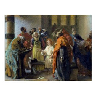 Twelve-year old Jesus in the Temple, 1851 Postcard